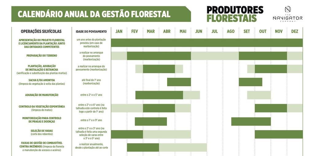 calendário Florestal