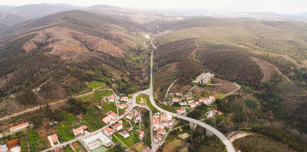 Vista aérea da região de Gois