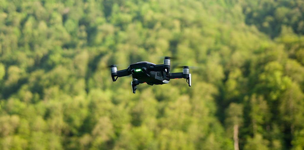 drone a vigiar floresta